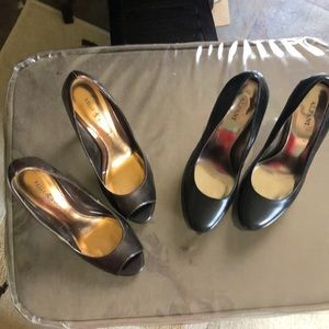 Two pair size 7 pumps